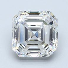 推薦鑽石 #3: 4.01 Carat Asscher Cut