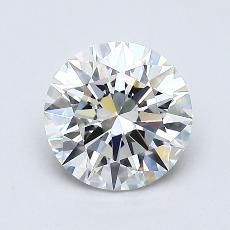 1.00-Carat Round Diamond Ideal G VVS2