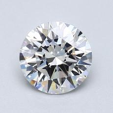 1.00-Carat Round Diamond Ideal D IF