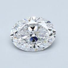1.00-Carat Oval Diamond Very Good D IF