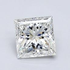 1.01-Carat Princess Diamond Very Good H VVS1