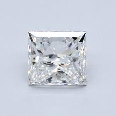 1,00-Carat Princess Diamond Very Good F VS1