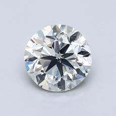 1.00 Carat Redondo Diamond Muy buena I VS2