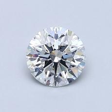 0.76 Carat 圓形 Diamond 理想 D VVS1