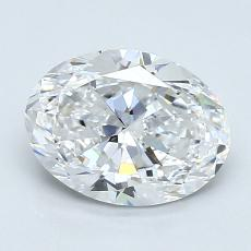 1.29-Carat Oval Diamond Very Good D VVS1
