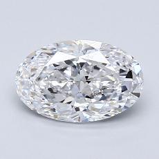1.23-Carat Oval Diamond Very Good D VS1
