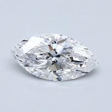 0.60-Carat Marquise Diamond Very Good D IF