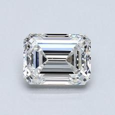 0.80-Carat Emerald Diamond Very Good G VVS2