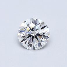 0.70-Carat Round Diamond Ideal E FL
