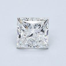 1.00-Carat Princess Diamond Very Good E IF