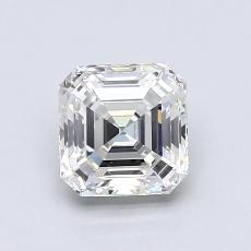 1.02-Carat Asscher Diamond Very Good H VVS1