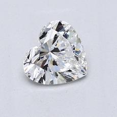 Piedra recomendada 1: Diamante con forma de corazón de 0.77 quilates