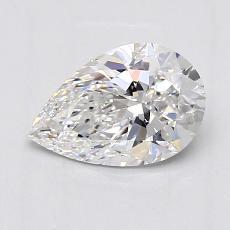 1.00 Carat 梨形 Diamond 非常好 E VS1