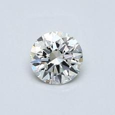 0.46-Carat Round Diamond Ideal H IF