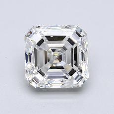 2.01-Carat Asscher Diamond Very Good F VS1