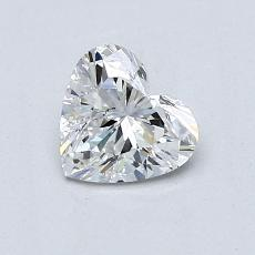 0.76-Carat Heart Diamond Very Good D SI1
