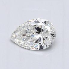 0.63-Carat Pear Diamond Very Good G SI1