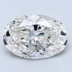 Piedra recomendada 2: Diamantes de talla ovalada de 1.84 quilates