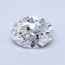 0.90-Carat Oval Diamond Very Good D IF