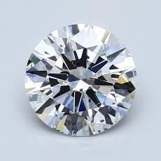 1.50-Carat Round Diamond Ideal D SI1