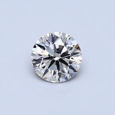 0.40-Carat Round Diamond Ideal K VVS2