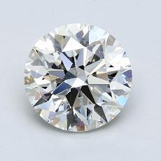 3,01-Carat Round Diamond Ideal H VS2