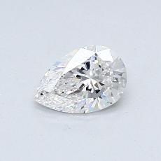0.41-Carat Pear Diamond Very Good D VVS2
