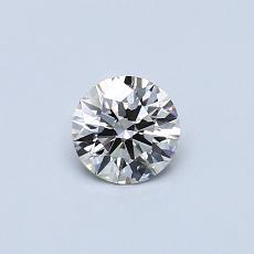 推薦鑽石 #2: 0.34 克拉圓形切割鑽石