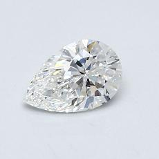 0.52-Carat Pear Diamond Very Good F VS1