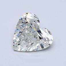 1,01-Carat Heart Diamond Very Good H SI2