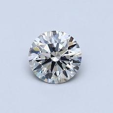 0.52 Carat 圆形 Diamond 理想 J VS2