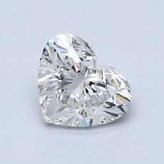 Piedra recomendada 2: Diamante con forma de corazón de 1.01 quilates