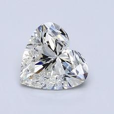 Piedra recomendada 3: Diamante con forma de corazón de 1.02 quilates