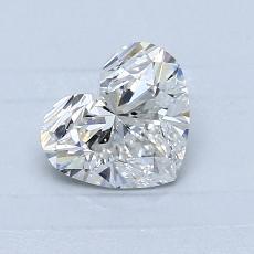 Piedra objetivo: Diamante con forma de corazón de 0.80 quilates