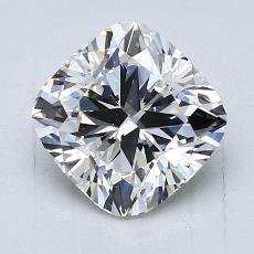 2,00-Carat Cushion Diamond Very Good F VVS1