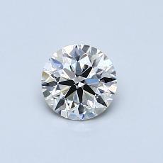 0.50-Carat Round Diamond Ideal J VVS2