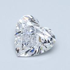 Recommended Stone #1: 0,90-Carat Heart Cut Diamond