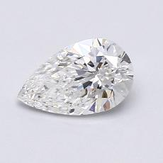 0.64-Carat Pear Diamond Very Good F SI1