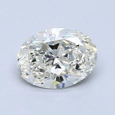 0.90 Carat 橢圓形 Diamond 非常好 J VS2