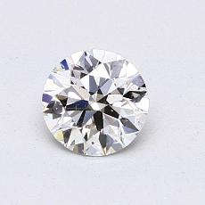 0.70-Carat Round Diamond Ideal J SI1