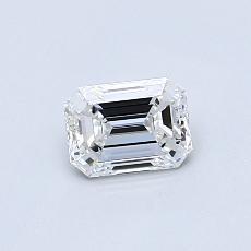 0.50-Carat Emerald Diamond Very Good E IF