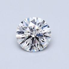 0.60-Carat Round Diamond Ideal D VS2