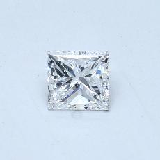 Recommended Stone #3: 0.40-Carat Princess Cut Diamond