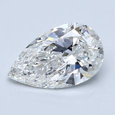1,01-Carat Pear Diamond Very Good G VS1