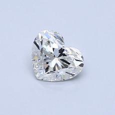 Pierre recommandée n°2: Diamant taille cœur 0,43carat