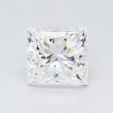 1.02-Carat Princess Diamond Very Good F VVS1