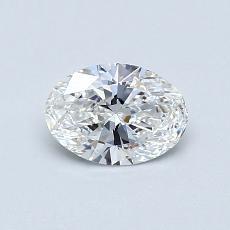 0.50 Carat 椭圆形 Diamond 非常好 F VVS2
