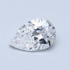 0.70 Carat 梨形 Diamond 非常好 D SI2