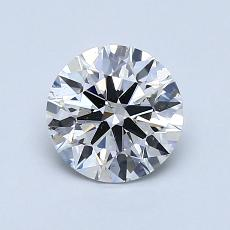 1.01-Carat Round Diamond Ideal E SI1