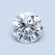 0.75 Carat 圓形 Diamond 理想 E VVS1